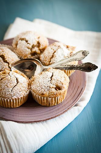 Muffin allo sciroppo d'agave, pere e vaniglia