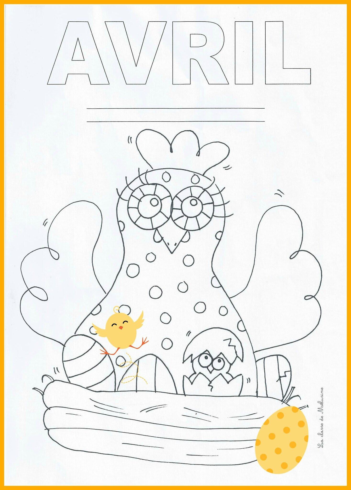 élégant Coloriage Mois D Avril Maternelle Des Milliers De