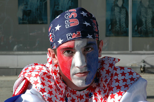 red white and blue mummer in front of meglios furs web.jpg
