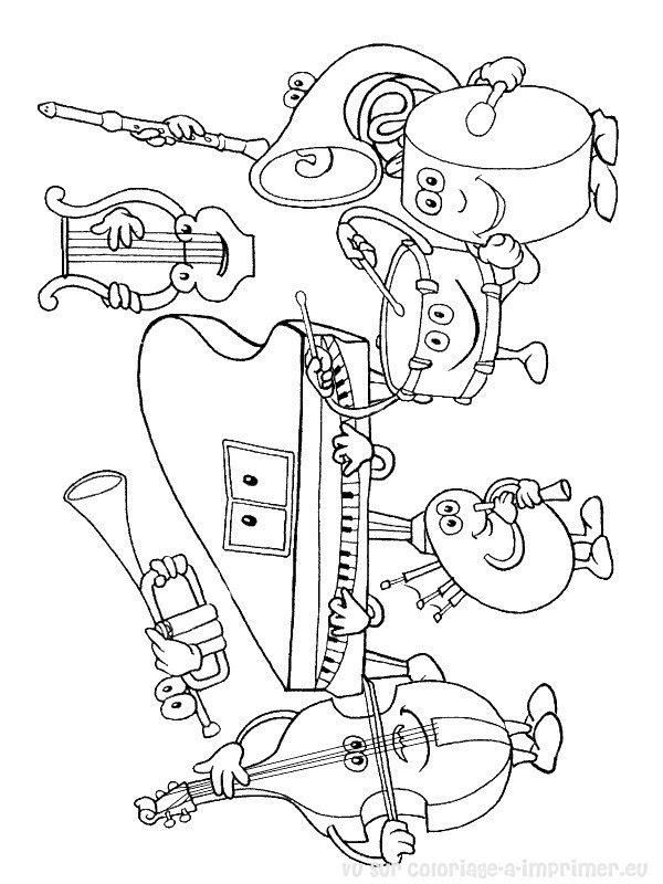 Coloriage à Imprimer Coloriage Instruments De Musique 038