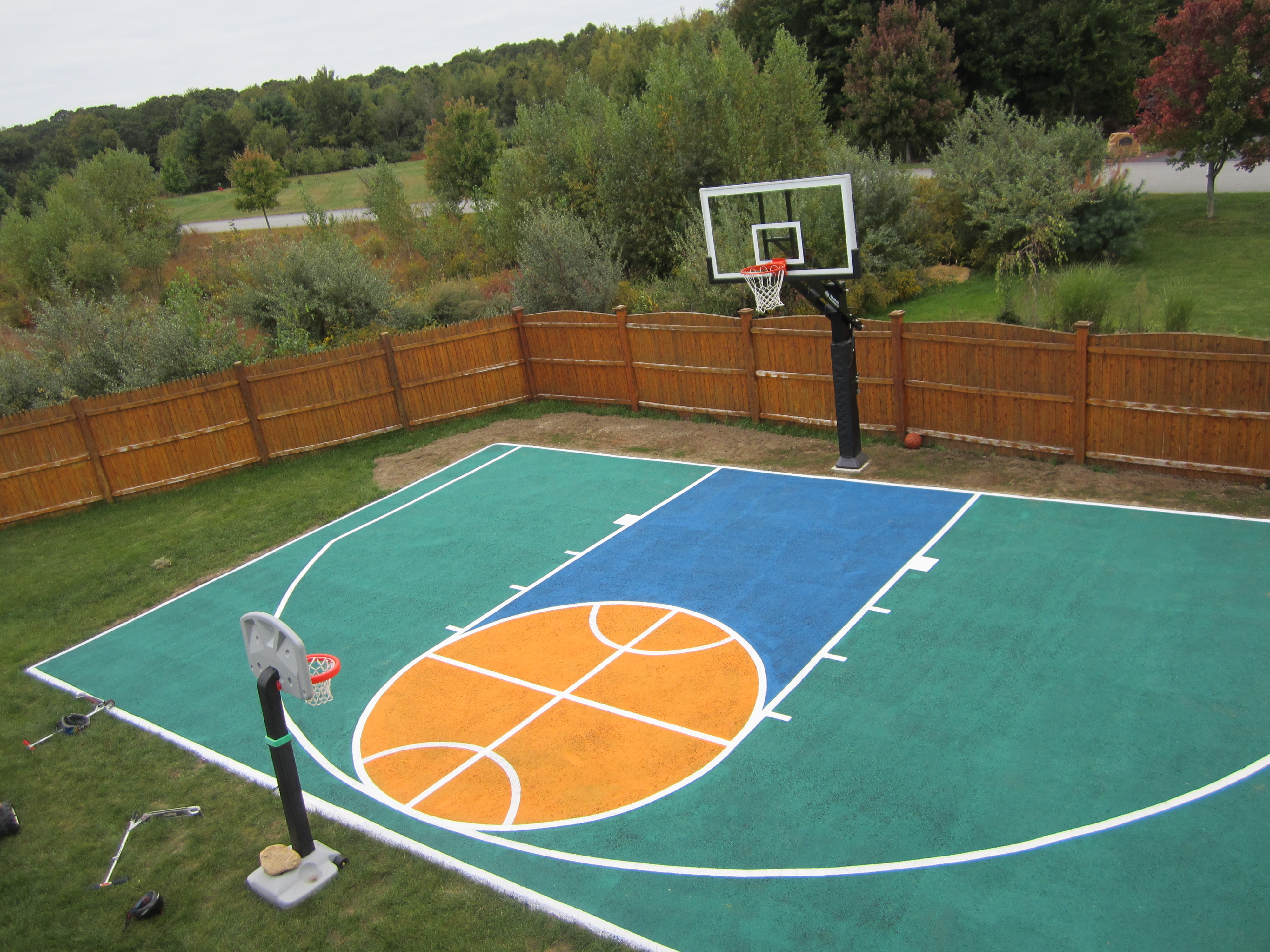 Theres Aerial View Of The Half Court And Pro Dunk Platinum