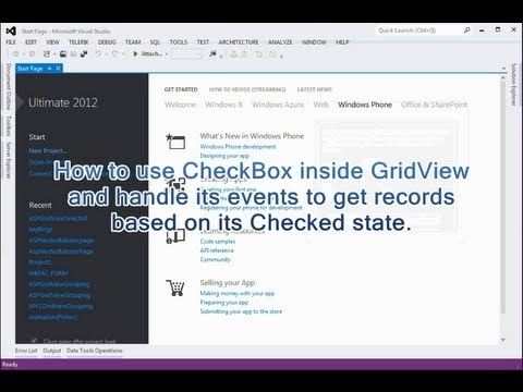 CheckBox inside GridView and handle its events to get