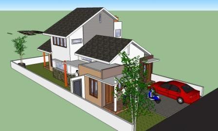 desain rumah tingkat samping - contoh sur