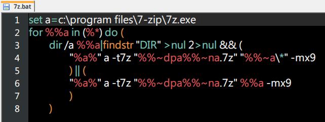 複製代碼建立為 bat