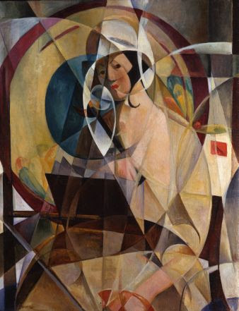 Mary Swanzy, Woman with white bonnet, 1920 circa, Oil on canvas, 99 x 80 cm, Private Collection U.K. Courtesy of Pyms Gallery, London, © Artist's Estate. Photo Credit © Pyms Gallery, London.