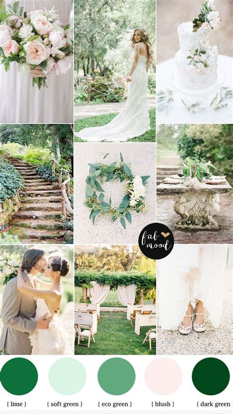 Nature garden wedding theme { Shades of green   blush