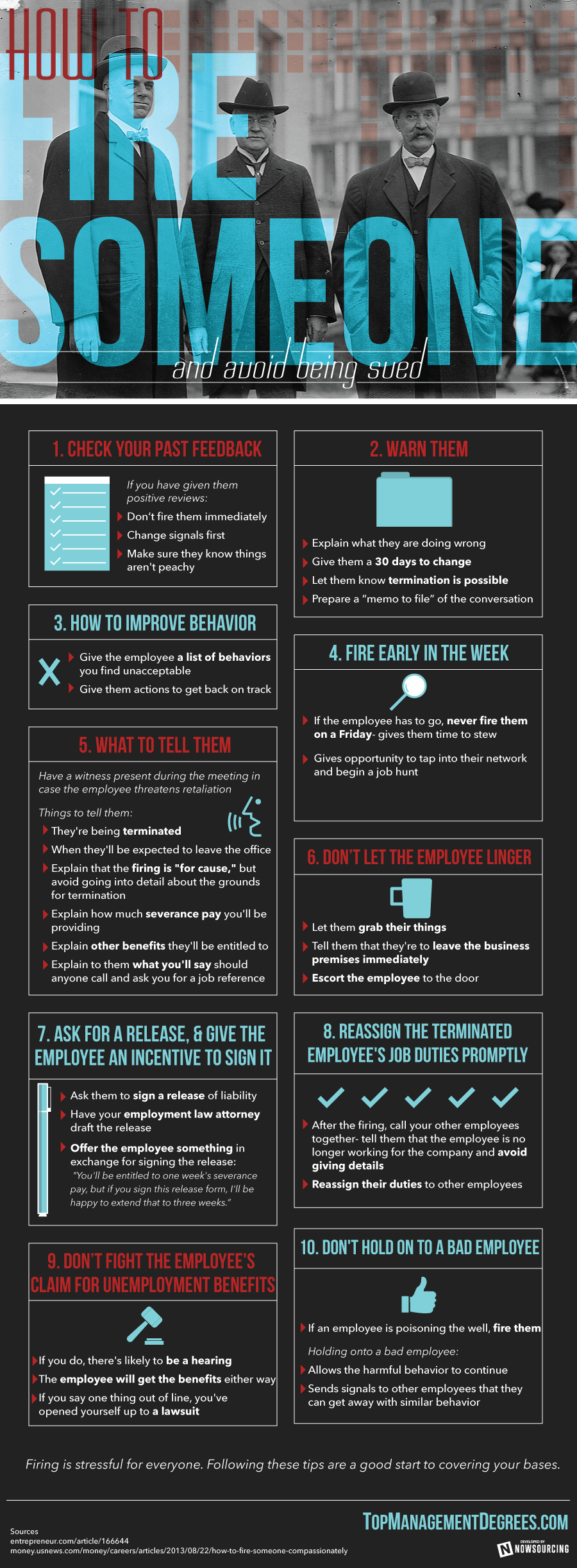 Infographic: How To Fire Someone And Avoid Being Sued