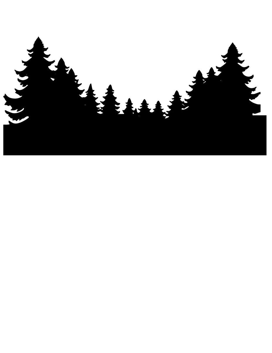 Download Northern Lights Treeline Svg Glitter Craze