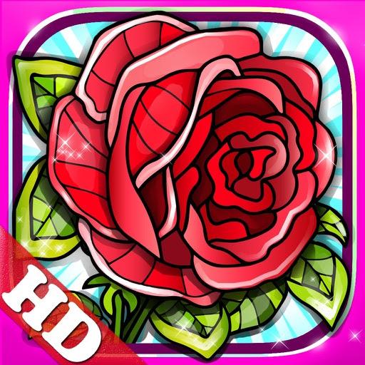 blumen rosen ausmalbilder fur erwachsene  kinder zeichnen