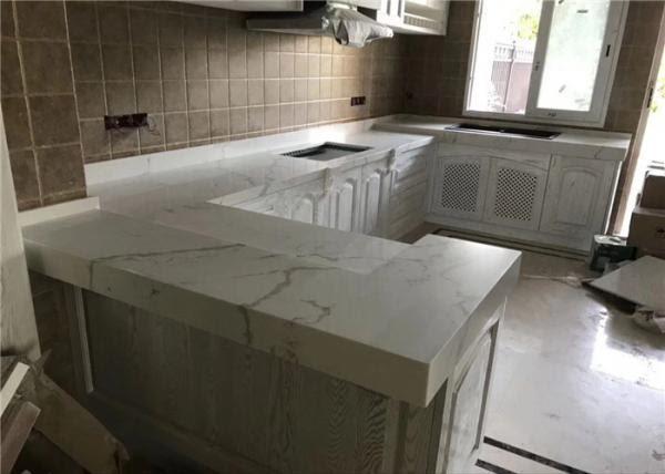 Modern Calacatta Prefab Quartz Countertops Enviroment Material Ce Certificated For Sale Prefab Kitchen Countertops Manufacturer From China 108588856