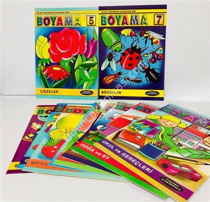 Boyama Kitabı Seti 10 Lu Toptan Fiyatları Kırtasiye ürünleri 900