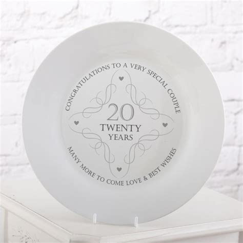 20th Anniversary Plate   The Gift Experience