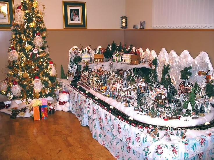 christmas village christmas entertaining ideas pinterest