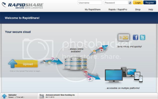 Rapidshare File Sharing Website