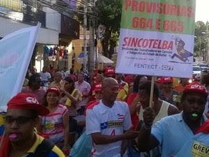 Servidores dos Correios protestam em Salvador  (Foto: Foto: Divulgação/ Sincotelba)
