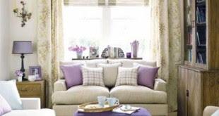 desain ruang tamu minimalis warna ungu - inspirasi desain