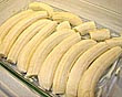 banana arrumadas no pirex