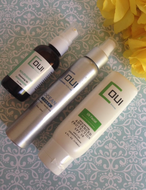 Coui Nourishing Cleansing Oil, Coui Ocean Toner, Coui UV Facial sunscreen