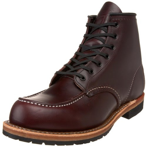 Red Wing Heritage Men's 6-Inch Beckman Moc Toe Boot,Black Cherry Featherstone,11 D US