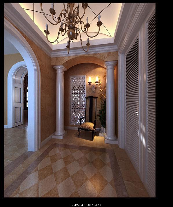 European Style Lobby Design 3D Model Download,Free 3D Models Download