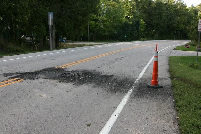 melted asphalt