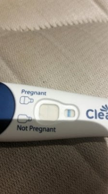 clearblue early detection pregnancy test very faint vertical