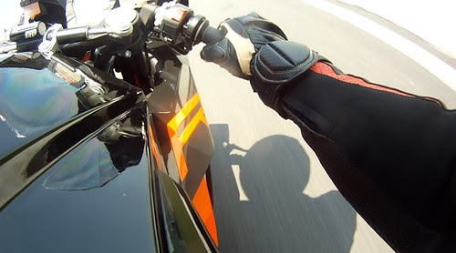 Riding the RC8R Onboard 1