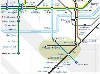 Proposed Northern Line extension from Stefen Cz's post on Albert Square and Saint Stephen's Association blog