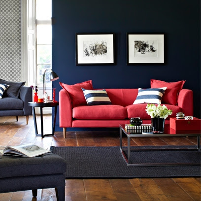 Bold Colour Living Rooms - Red Online