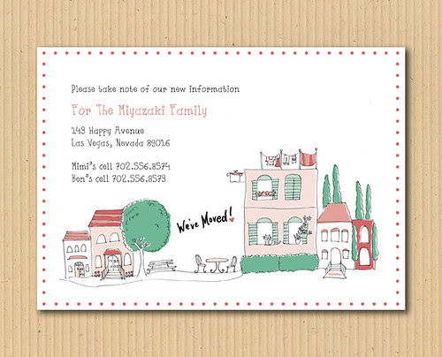 Moving Announcements, We've Moved, New Address Notice, Updating Information, Housewarming Party Invitation, Open House Invitations, Personalized Party Invitation, Birthday Invitation Designs, Fabulous Invitation Designs, DIY Party Design Invitations, Personalized Invitations