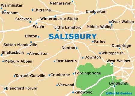 Map Of Salisbury Salisbury England Map | World Map Gray