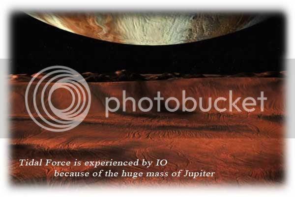 Tidal force on IO because of gigantic Jupiter