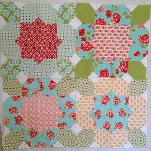 4/20 blocks finished for the Flower Girl quilt