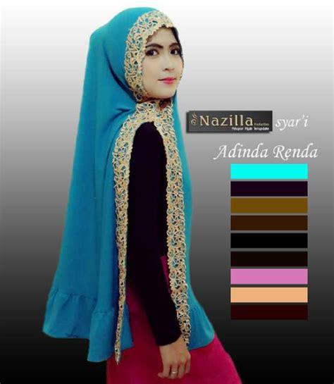 jual harga hijab jilbab kerudung khimar adinda renda