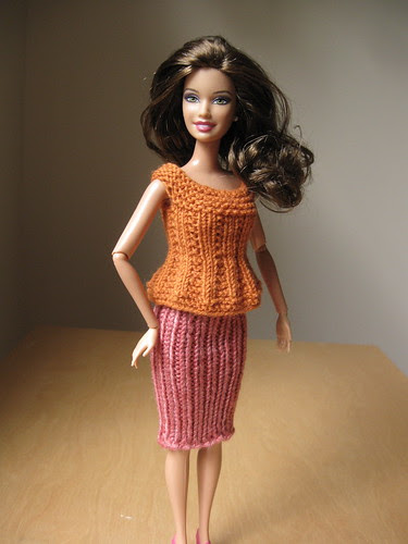 knitting for Barbie