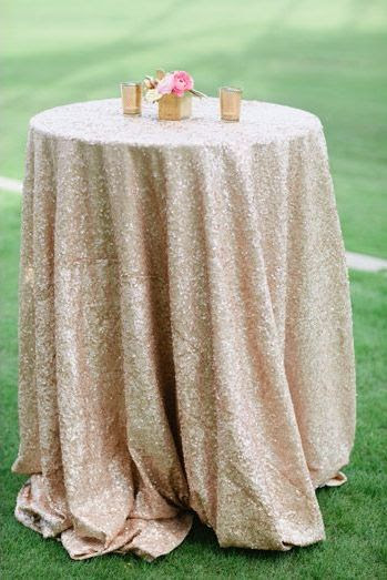 Glitter Tablecloths   Photo by Joielala Photographie