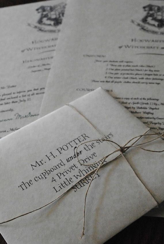 Personalized Harry Potter Letter - Hogwarts Acceptance Letter (Includes FREE Ticket on Hogwarts Express)