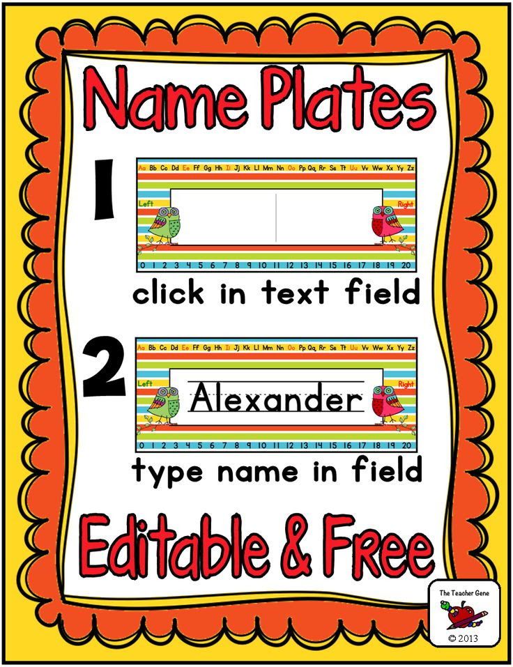 1000+ ideas about Student Name Plates on Pinterest | Classroom ...