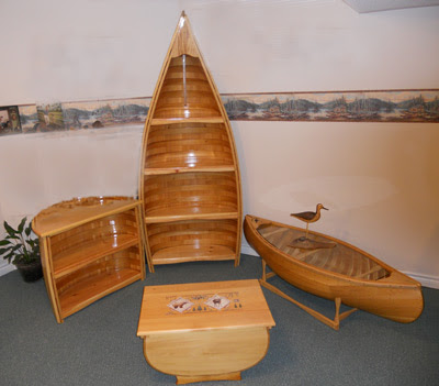 building canoes and canoe furniture using only the finest materials