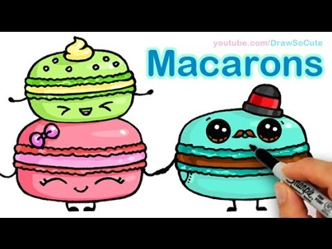 Draw So Cute Food How To Draw Macarons Cute Step By Step Sweet