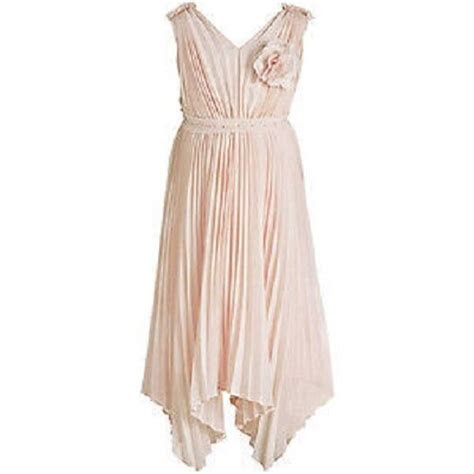 monsoon girls dress florentine pale pink pleated party