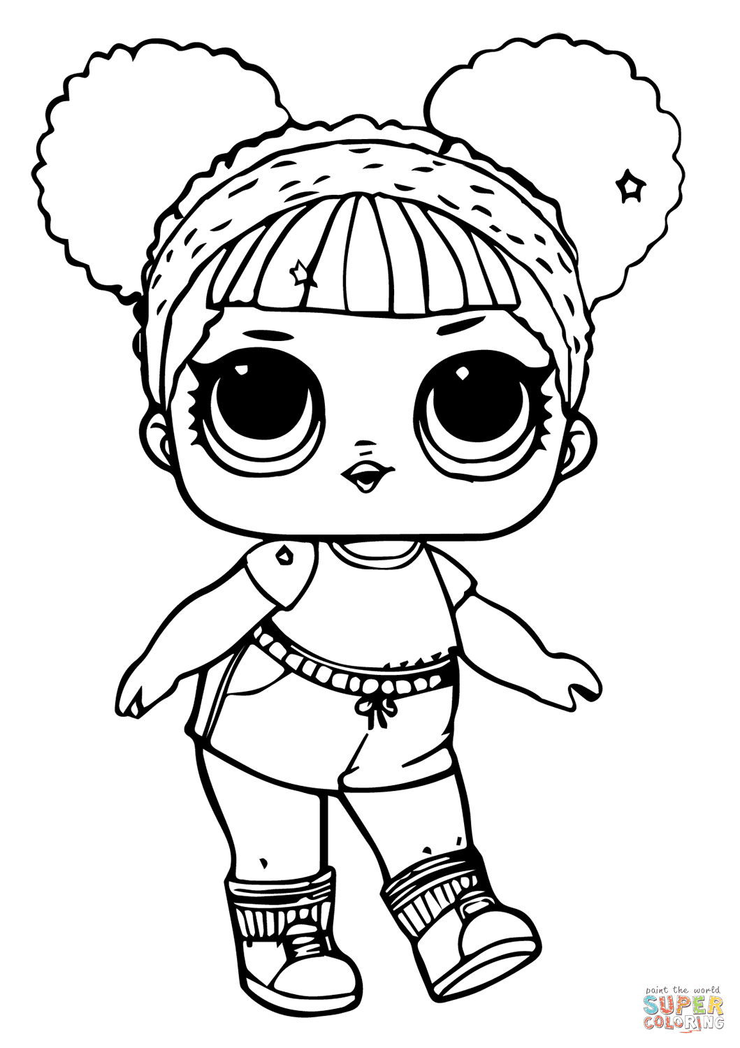 LOL Doll Hoops MVP Glitter coloring page | Free Printable ...