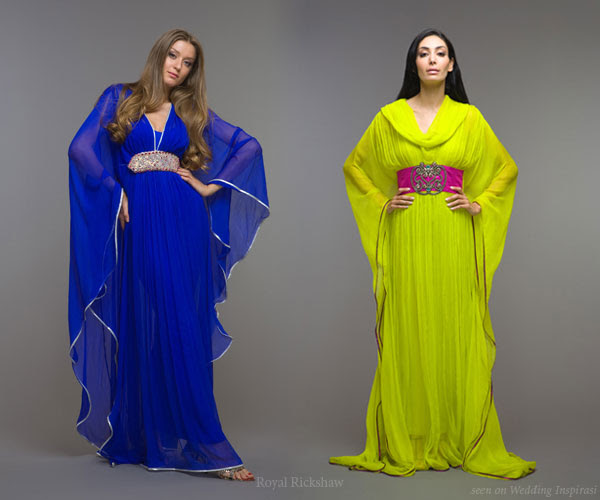 Long evening kaftan dresses