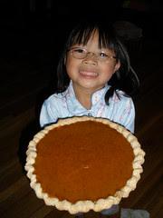 Olivia with Pumpkin Pie