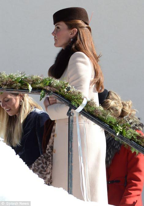 Kate Middleton Arosa, İsviçre karlı ortamda düğün katıldı