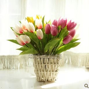 6pcs\/lot,European decorative artificial flowers Netherlands tulip silk flower Home Decoration no