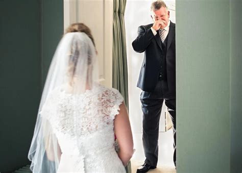 totally emotional father   bride