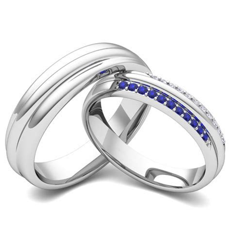 Create Matching Wedding Ring Band for Him and Her Diamonds