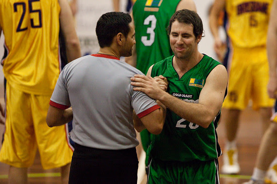 Adam Darragh, Scott Butler - QBL Quarter Final Basketball: Gold Coast Rollers v Brisbane Capitals; Carrara, Gold Coast, Queensland, Australia. Photos by Des Thureson:  http://disci.smugmug.com.