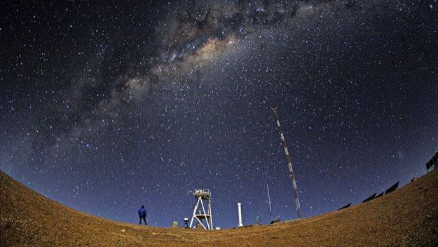 Night view of Atacama desert